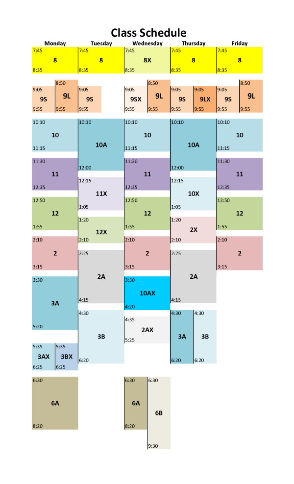 ORCCatalog – Class Schedule